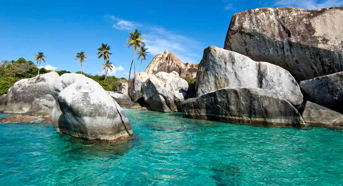 Virgin Gorda beaches and lobste
